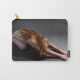 1727-PDJ Nude Redhead Bowing Down Hands Out Carry-All Pouch