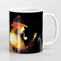 sherlock holmes Mugs featuring Sherlock Holmes  by nicebleed