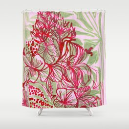 HIBISCUS TANGLE Shower Curtain