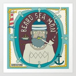 Beard Sea Man Art Print