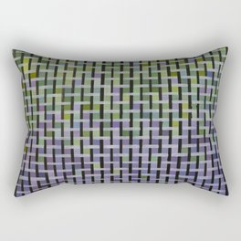 Green and Purple Basket Weave Rectangular Pillow