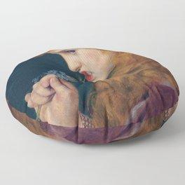 LOVES SHADOW - FREDERICK SANDYS  Floor Pillow