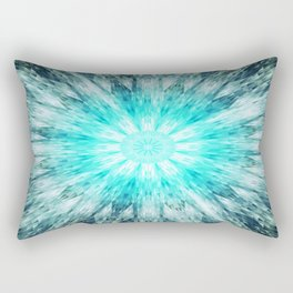 Teal Blue Mandala Rectangular Pillow