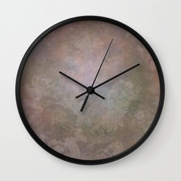 Vintage Soft Sepia Floral Wall Clock
