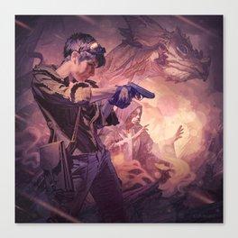 Dragons of Dorcastle Canvas Print