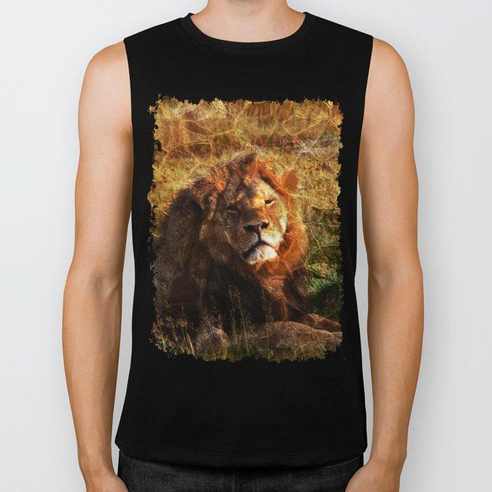 Cecil, the Lion Biker Tank