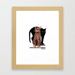 Munich Zoo Big Cats Framed Art Print
