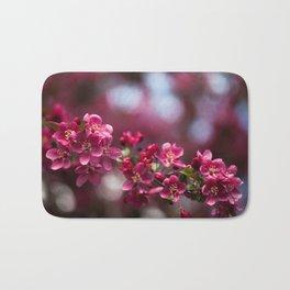 Pink Apple Blossoms Bath Mat