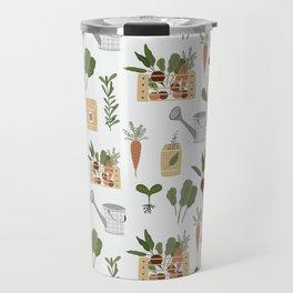 Botanical Gardening Pattern Pots And Plants Travel Mug