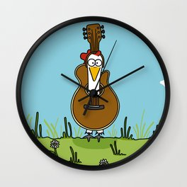 Eglantine la poule (the hen) disguised as a guitare. Wall Clock