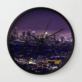 Los Angeles at Night Wall Clock