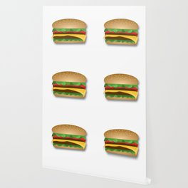Yummy Cheeseburger Wallpaper