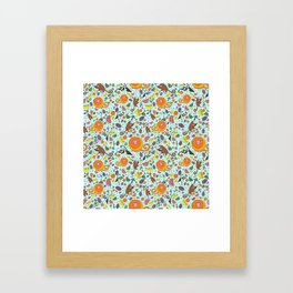 Cute Rainforest Pattern Framed Art Print