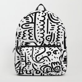 Street Art Graffiti Love Black and White Backpack