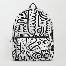 Street Art Graffiti Love Black and White Backpack