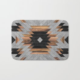 Urban Tribal Pattern No.6 - Aztec - Concrete and Wood Bath Mat