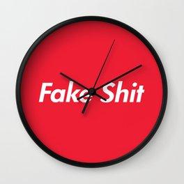 Fake Shit (Supreme Rip-Off) Wall Clock