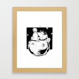 See with your heart Framed Art Print