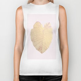 Gold leaf - heart Biker Tank