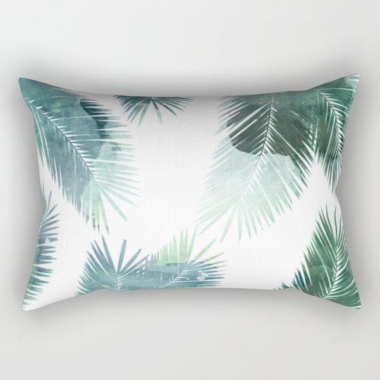 Watercolor Leafs 2 Rectangular Pillow