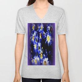 Blue Daises  Unisex V-Neck