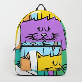 Meow-mania, the land of cats Backpack