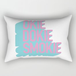 Okie Dokie Smokie Design Rectangular Pillow