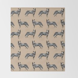 Australian Cattle dog must have gifts for cattle dog owners dog breed pet friendly unique dog art Throw Blanket