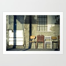 Lonely Chairs #1 Art Print