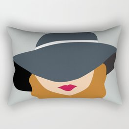 LADY IN A HAT II Rectangular Pillow