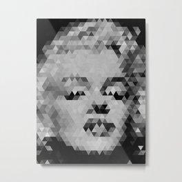 Marilyn Geometric Monroe Metal Print