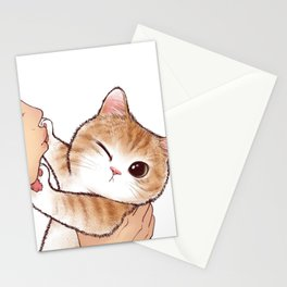 want to kiss Stationery Cards