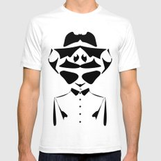 Optical Illusion - double face White Mens Fitted Tee SMALL