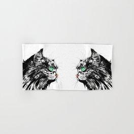 Green Eyed Cat Hand & Bath Towel
