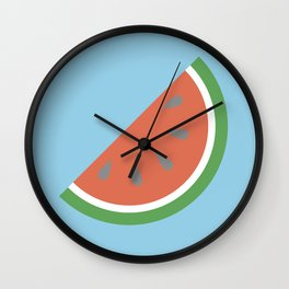 Bright Summer Watermelon Wall Clock