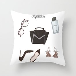 Fashion essentials Throw Pillow