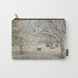 lonely sheep in chestnut grove Carry-All Pouch