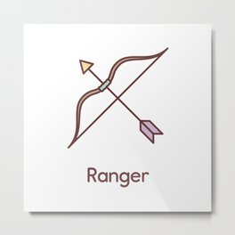 Cute Dungeons and Dragons Ranger class Metal Print