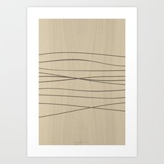 Smooth Stripes Art Print
