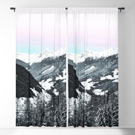 Snowy Mountains Blackout Curtain