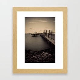 Down by the Water Framed Art Print