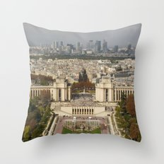 Aerial Paris Throw Pillow