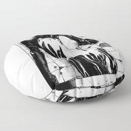 asc 453 - La purification avant la lutte (The war paint) Floor Pillow