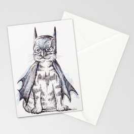 Bat Cat Stationery Cards