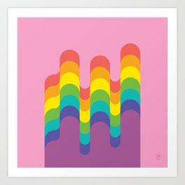 Design-y LGBTQ+ Pride Rainbow Art Print