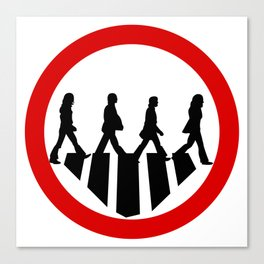 Rock Band Crossing The Road Canvas Print