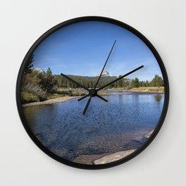 Tuolumne River and Meadows, No. 2 Wall Clock