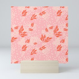 Scattered Leaves and Petals Mini Art Print