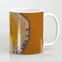 Growing - ginkgo - embroidery based on plant cell under the microscope Coffee Mug
