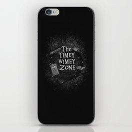 The Timey Wimey Zone iPhone Skin